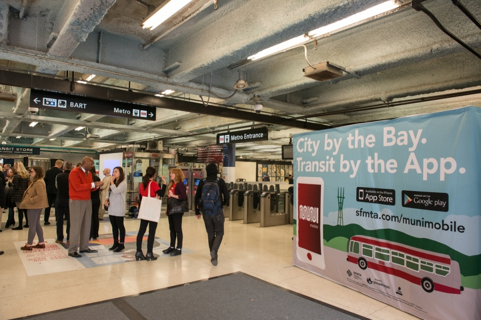 Launch of MuniMobile Mobile Phone Ticketing for Muni Fares | November 16, 2015. Photo by SFMTA Photography Department.